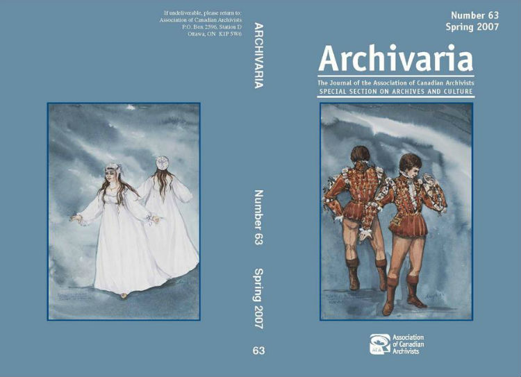 Archivaria 63 front cover