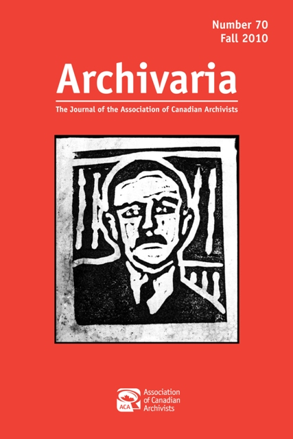 Archivaria 70 cover