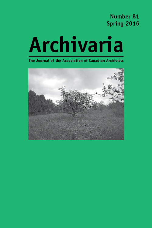 Archivaria 81 cover