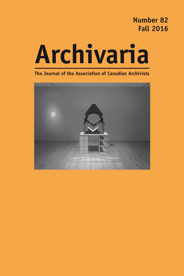 Archivaria 82 cover
