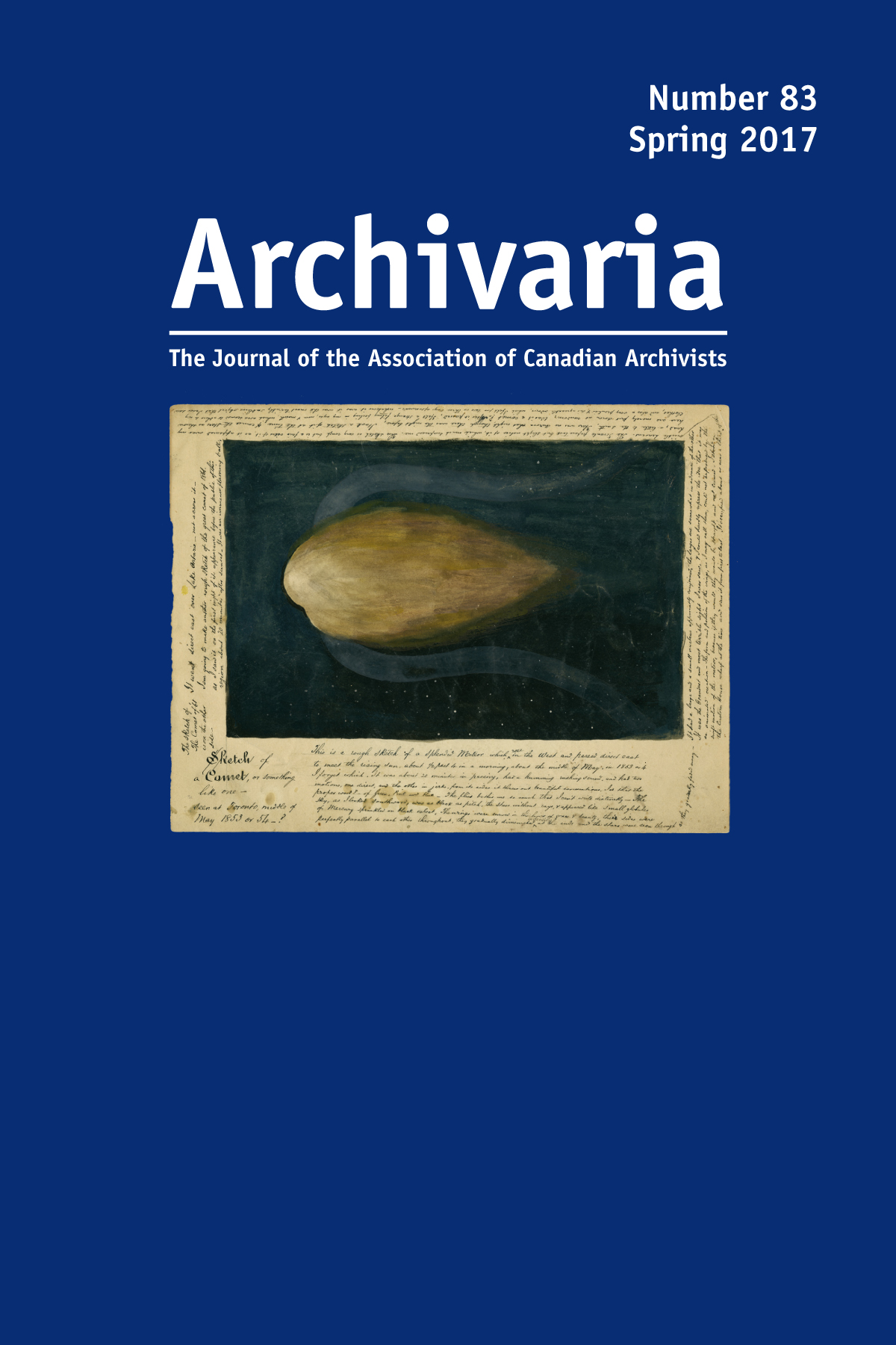 Archivaria 83 cover