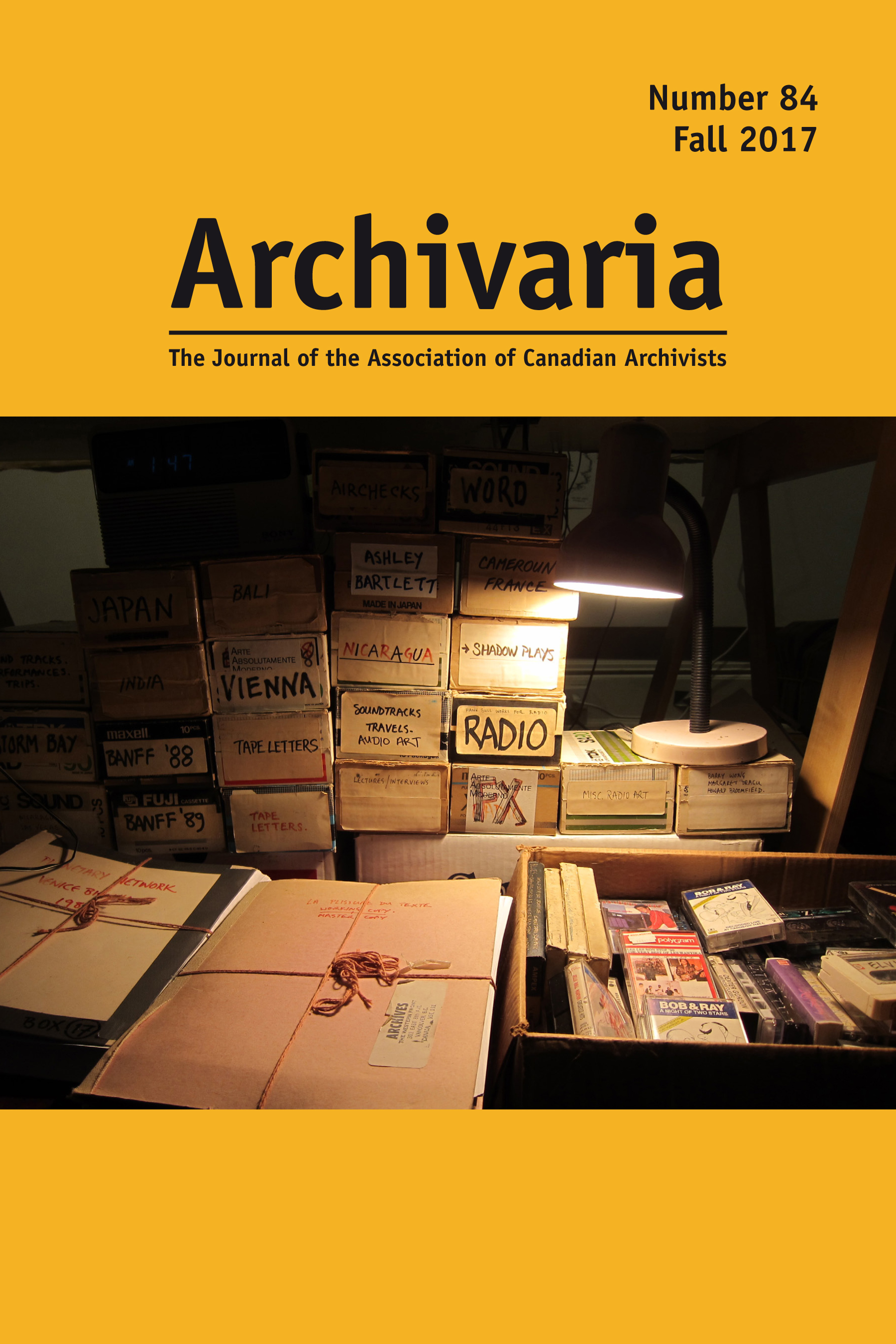 Archivaria 84 cover