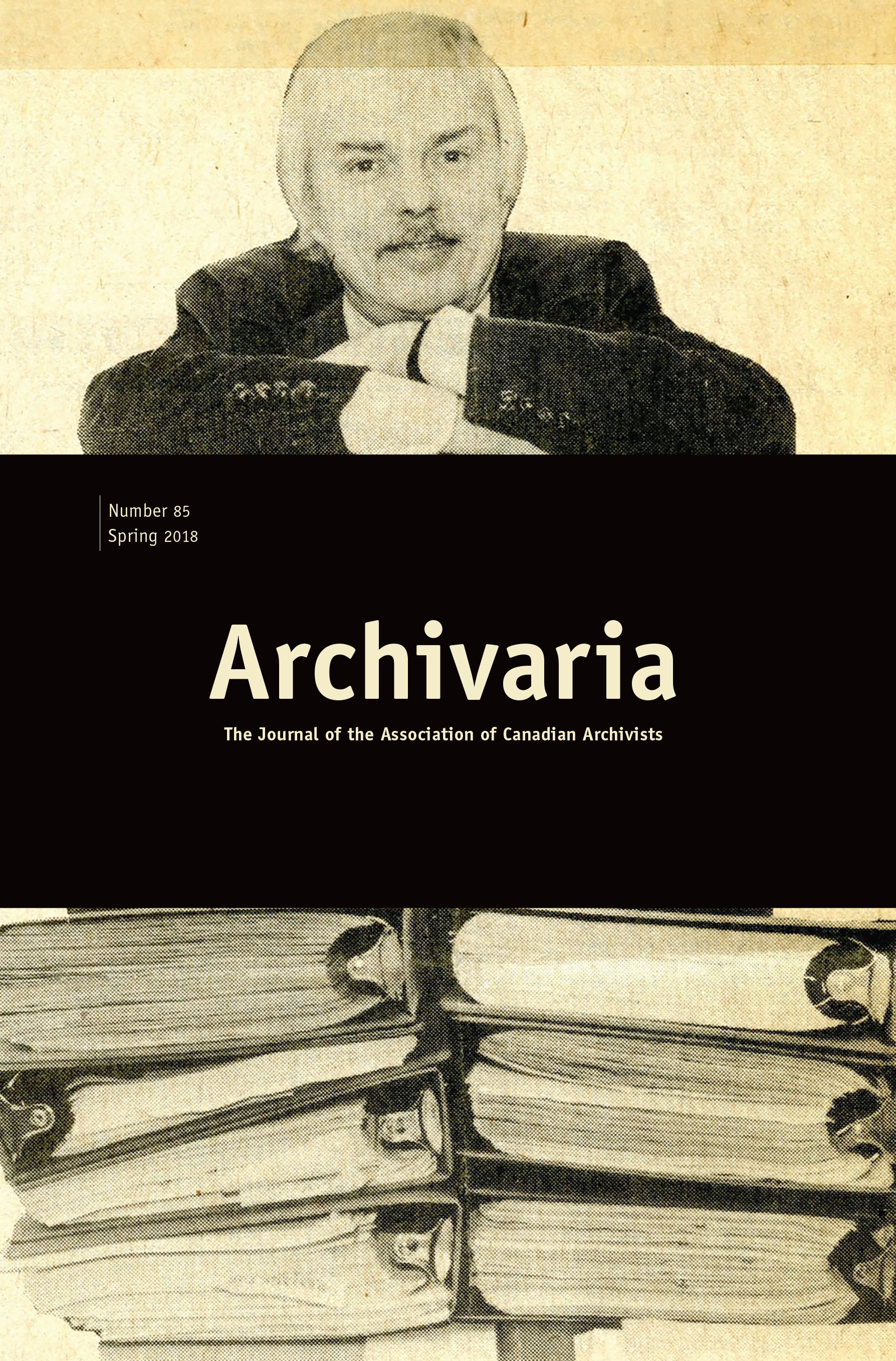 Archivaria 85 cover